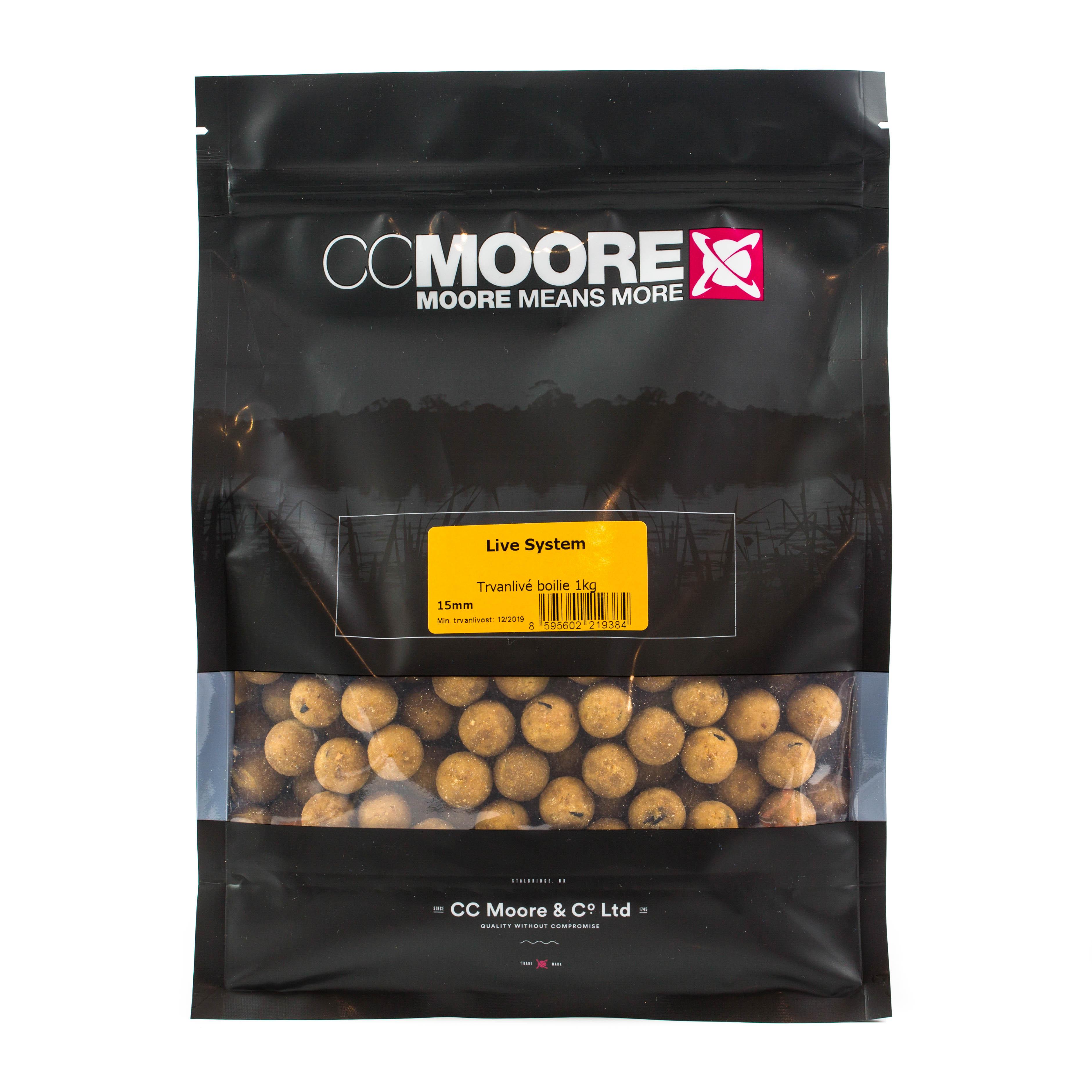 CC Moore Live system - Trvanlivé boilie 15mm 1kg