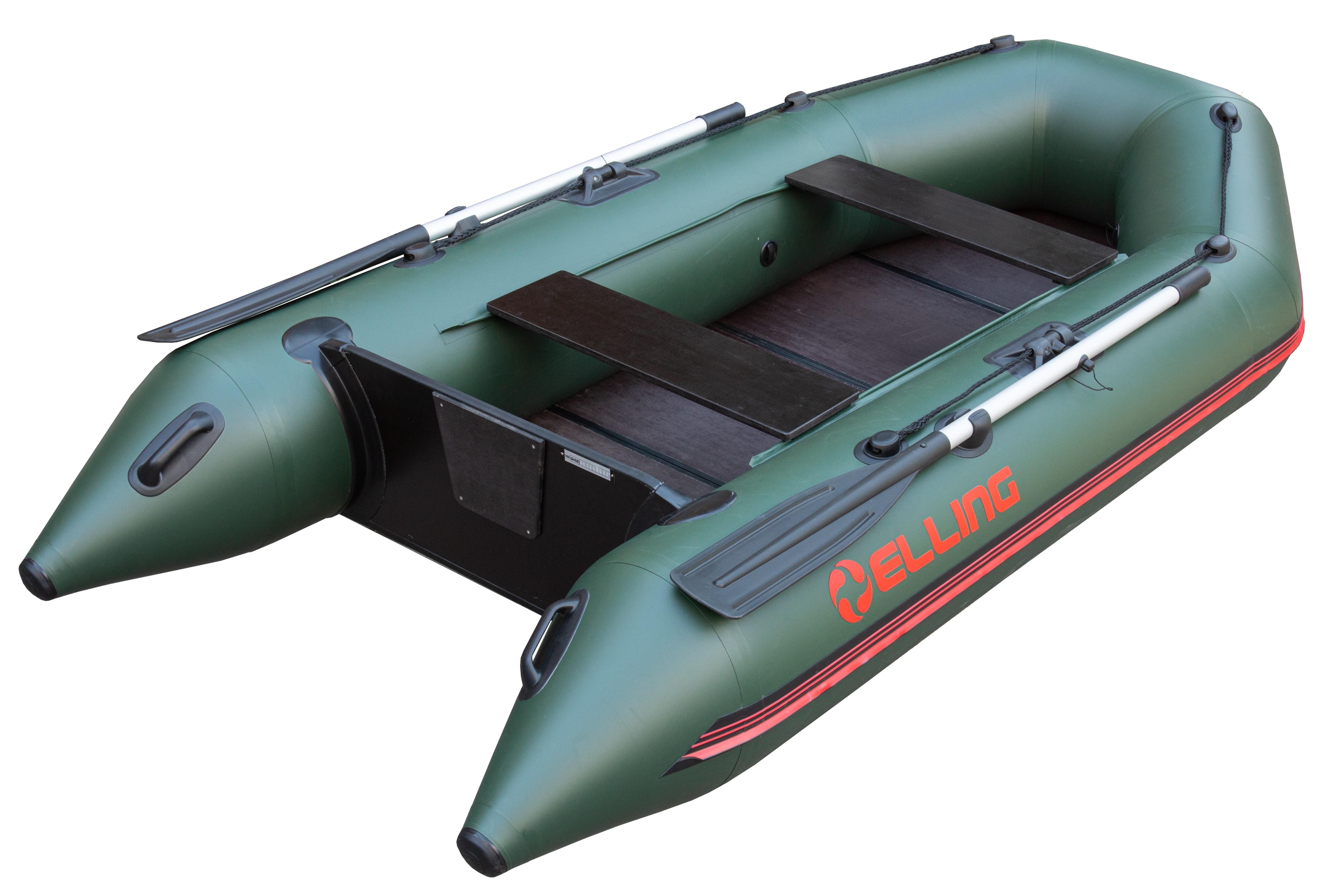 Nafukovací čluny Elling - Forsage 270 s pevnou skládací podlahou, zelený
