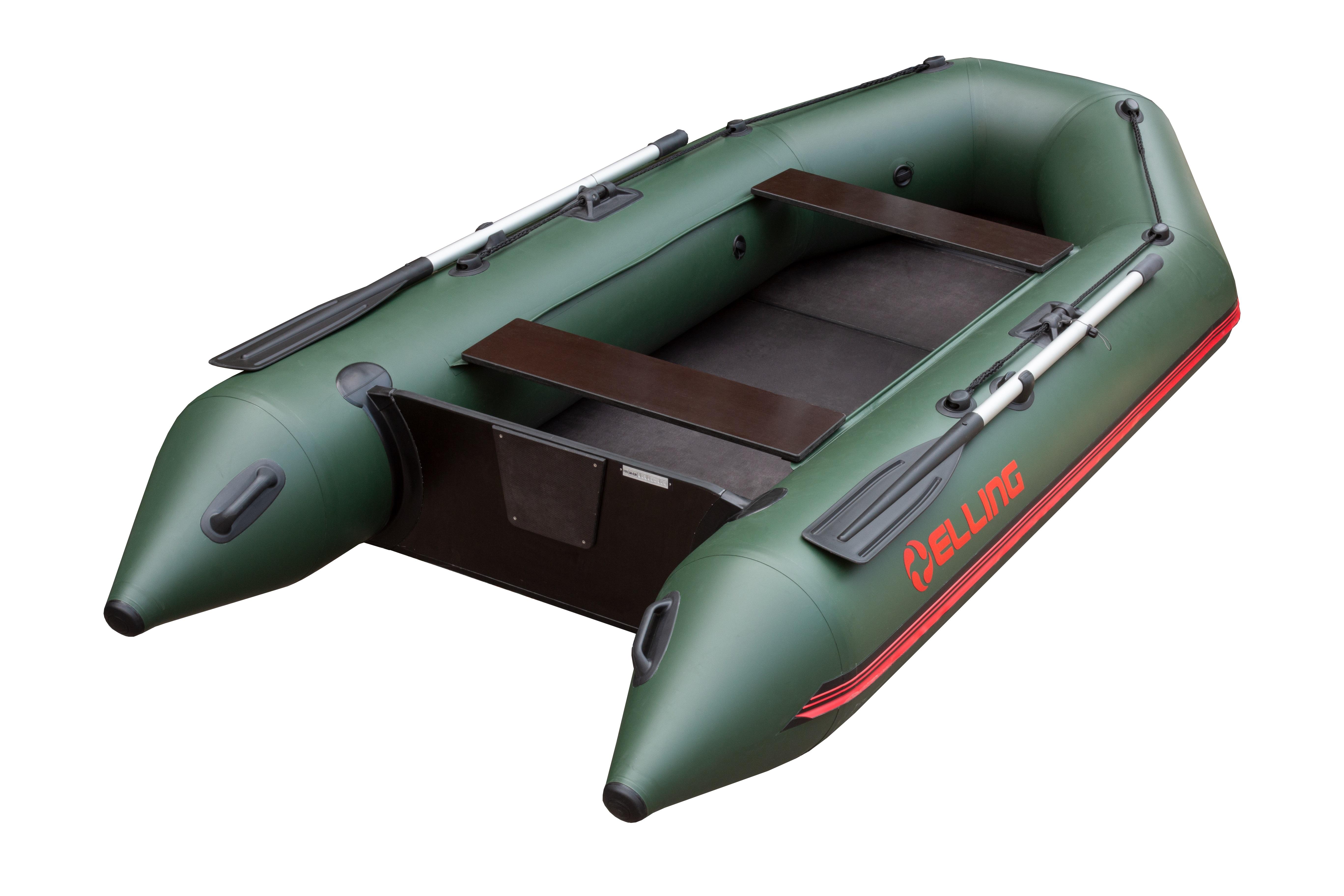 Nafukovací čluny Elling - Forsage 330 s pevnou skládací podlahou, zelený