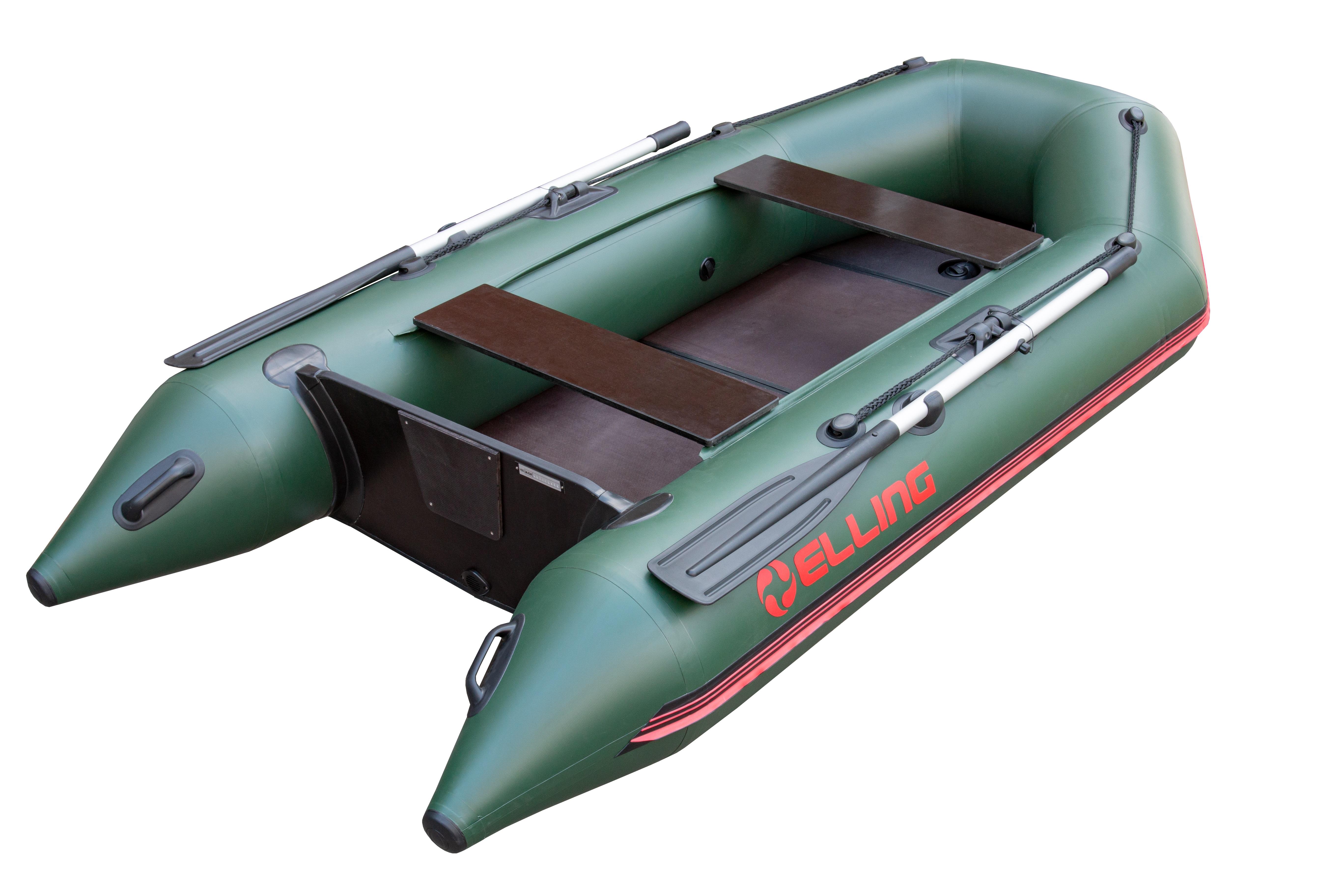 Nafukovací čluny Elling - Patriot 240 s pevnou skládací podlahou, zelený