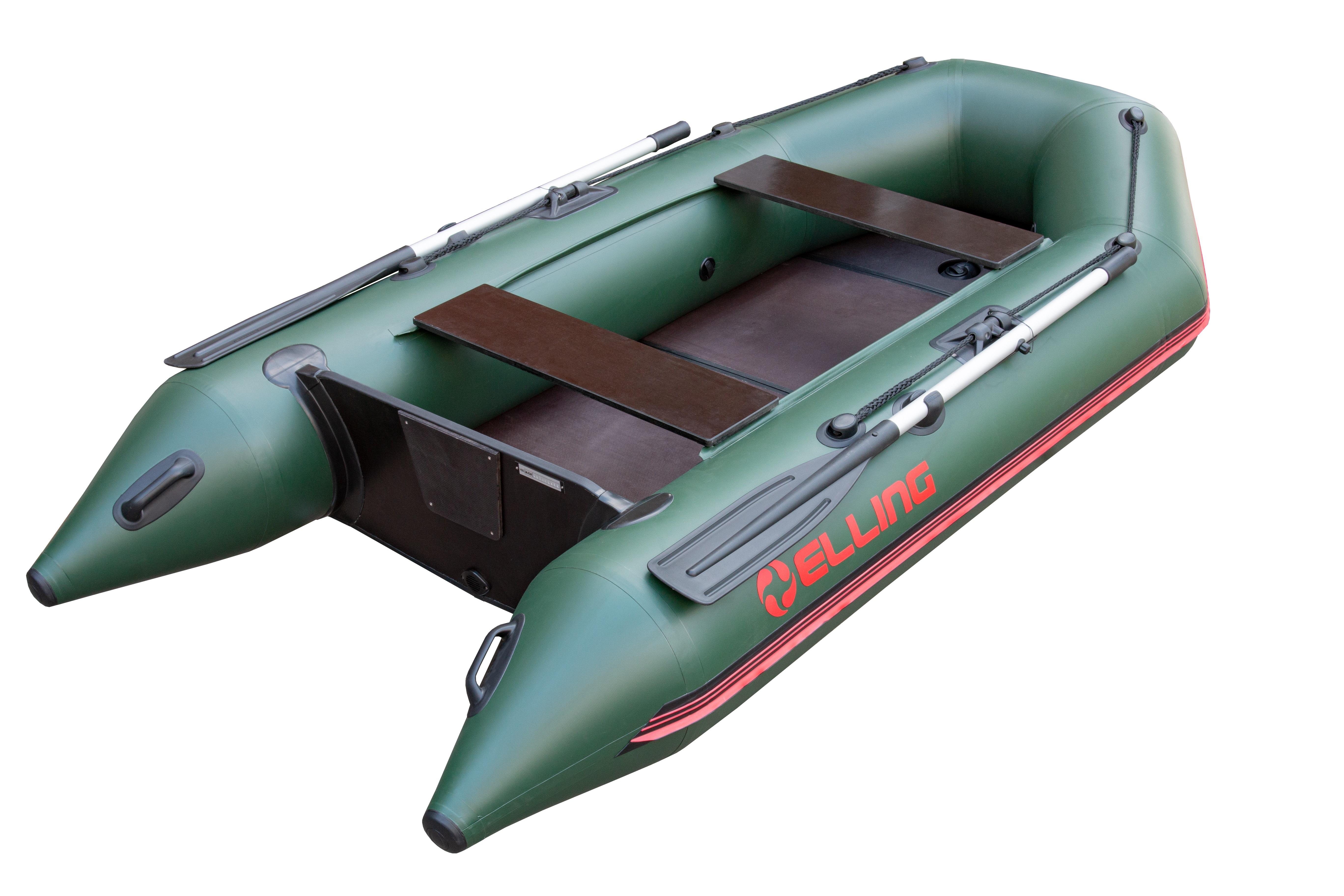 Nafukovací čluny Elling - Patriot 270 s pevnou skládací podlahou, zelený