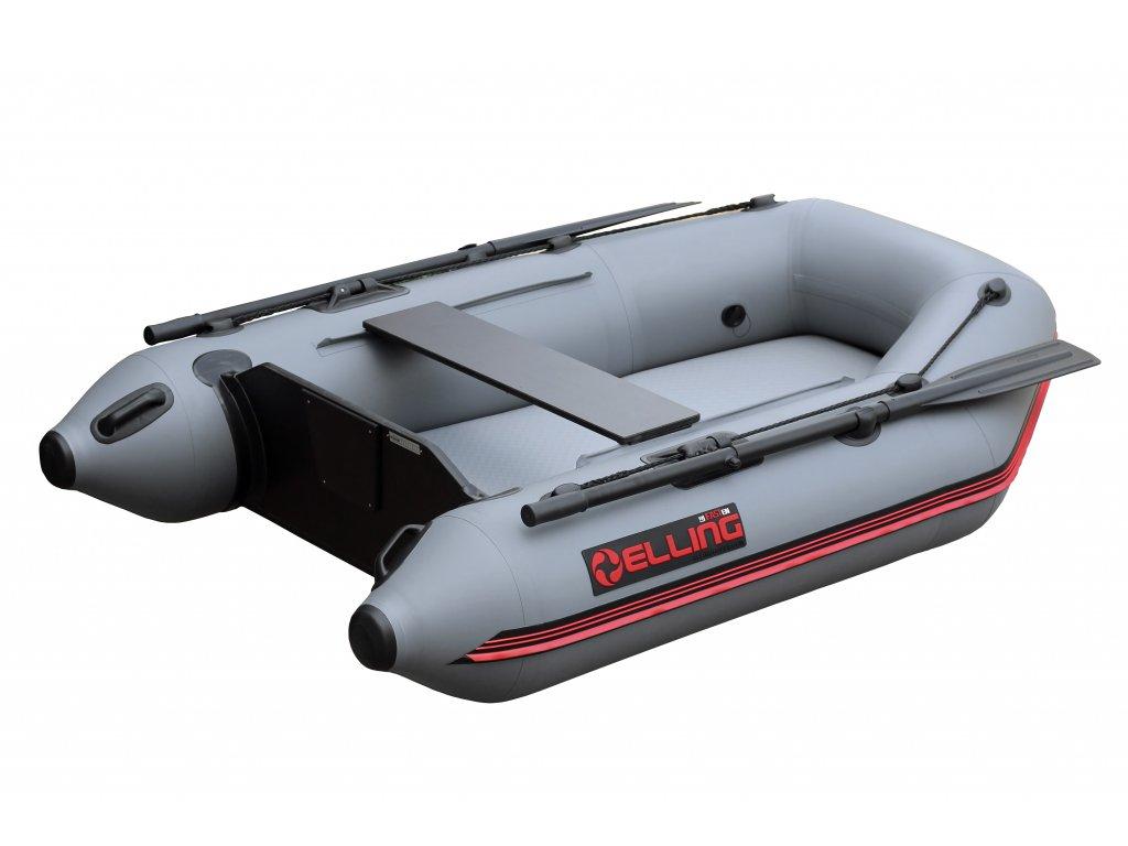 Nafukovací čluny Elling - T240 AIR široký s nafukovací podlahou, šedý