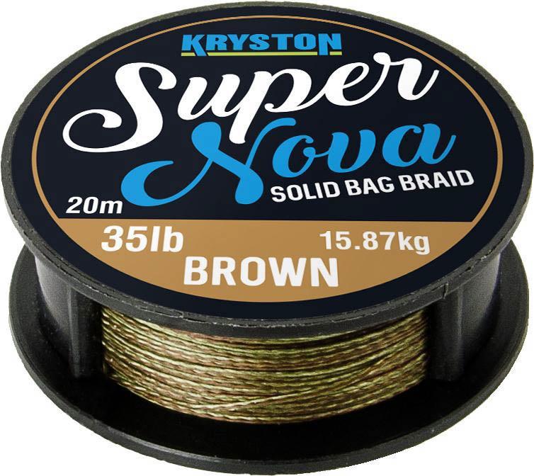 Kryston pletené šňůrky - Super Nova solid braid pískový 35lb 20m