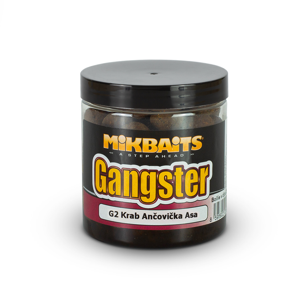 Gangster boilie v dipu 250ml - G2 Krab Ančovička Asa 16mm