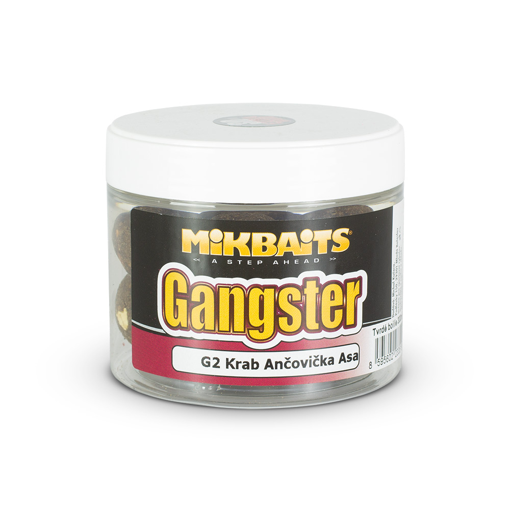 Gangster extra hard boilie 300ml - G2 Krab Ančovička Asa 30mm