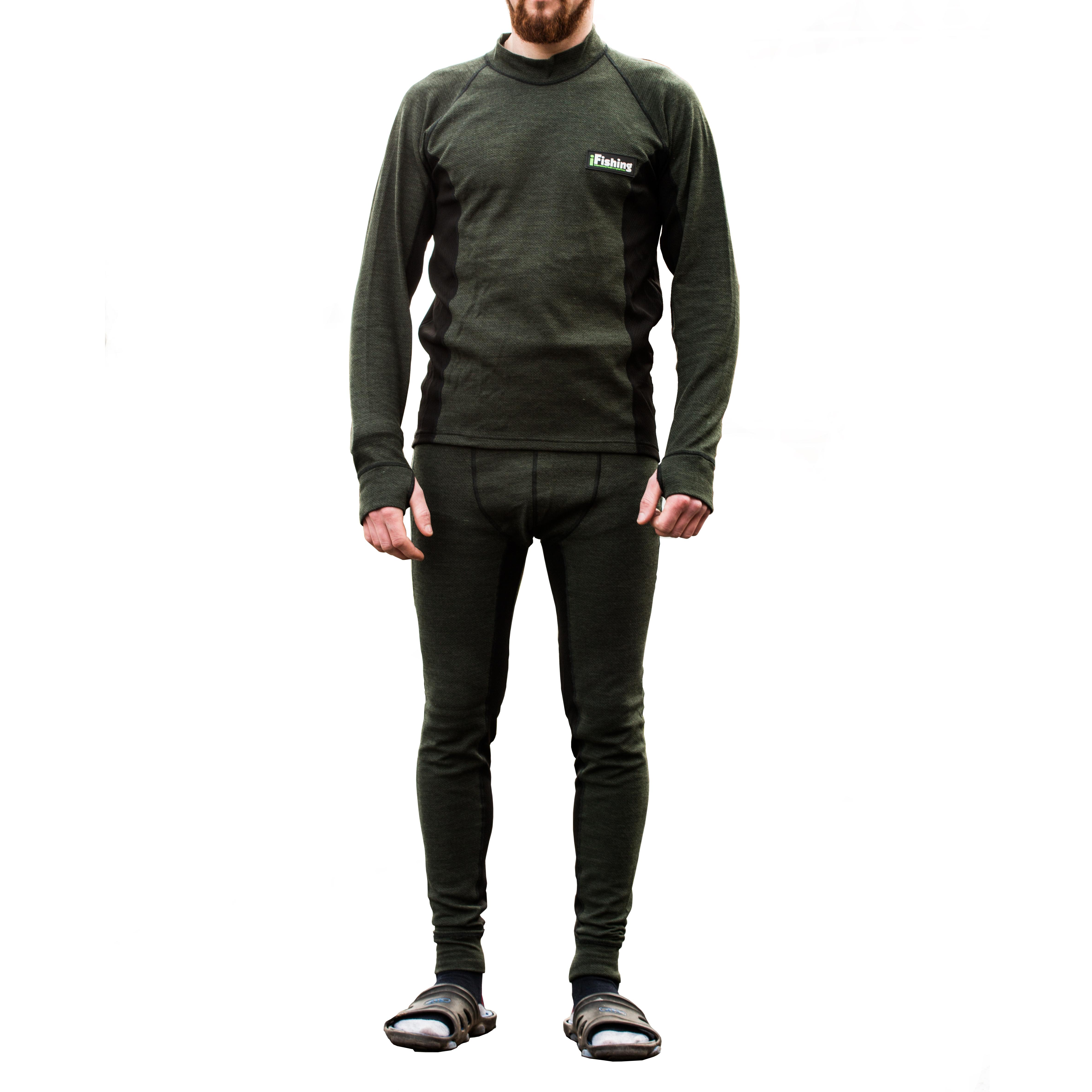 Mikbaits oblečení - Funkční termoprádlo s Merino vlnou zelené L