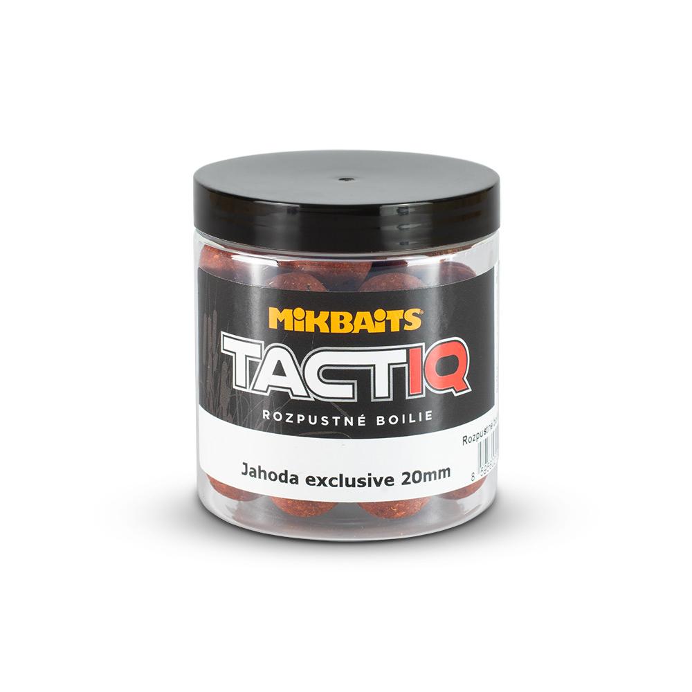 TactiQ rozpustné boilie 250ml - Jahoda exclusive 20mm