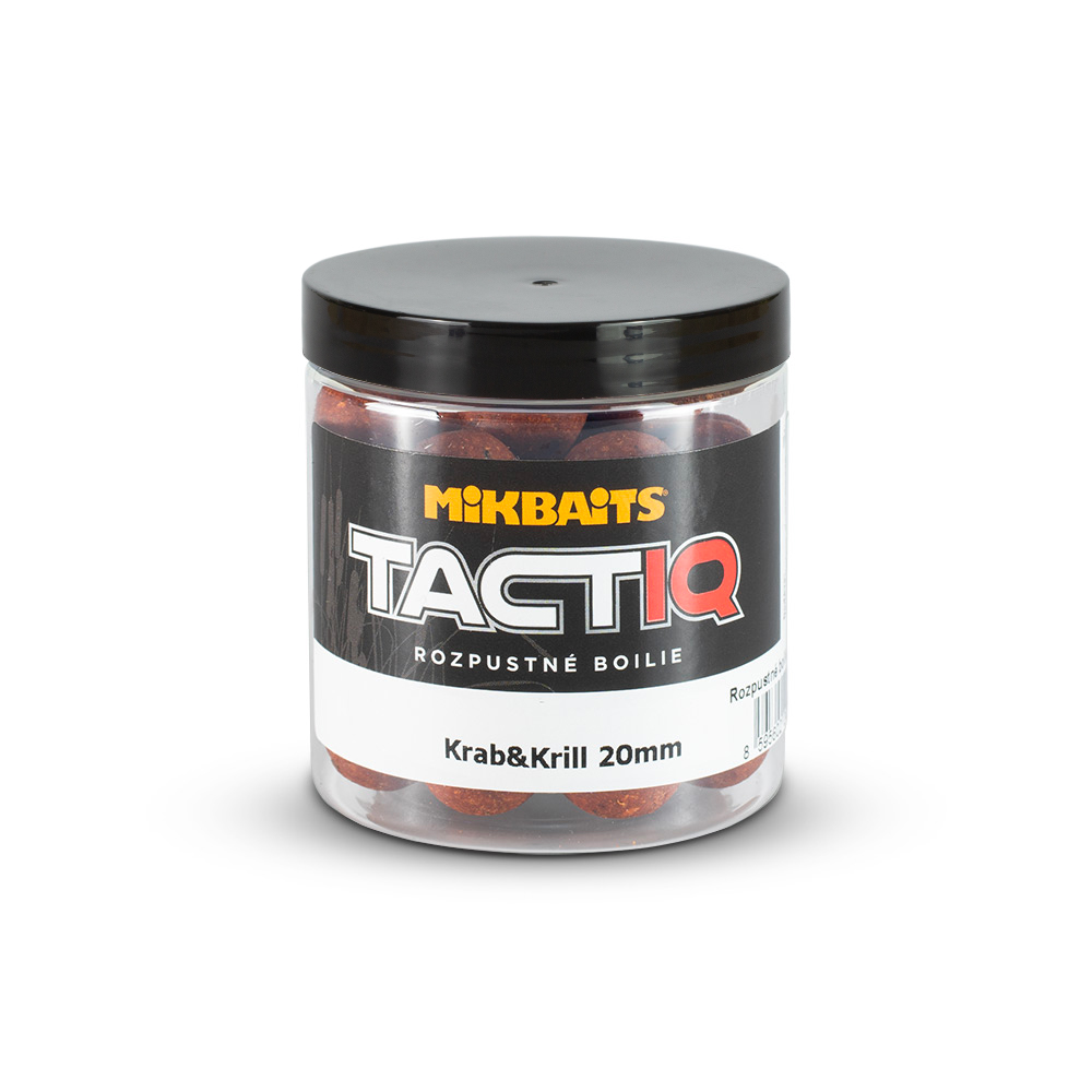 TactiQ rozpustné boilie 250ml - Krab&Krill 20mm